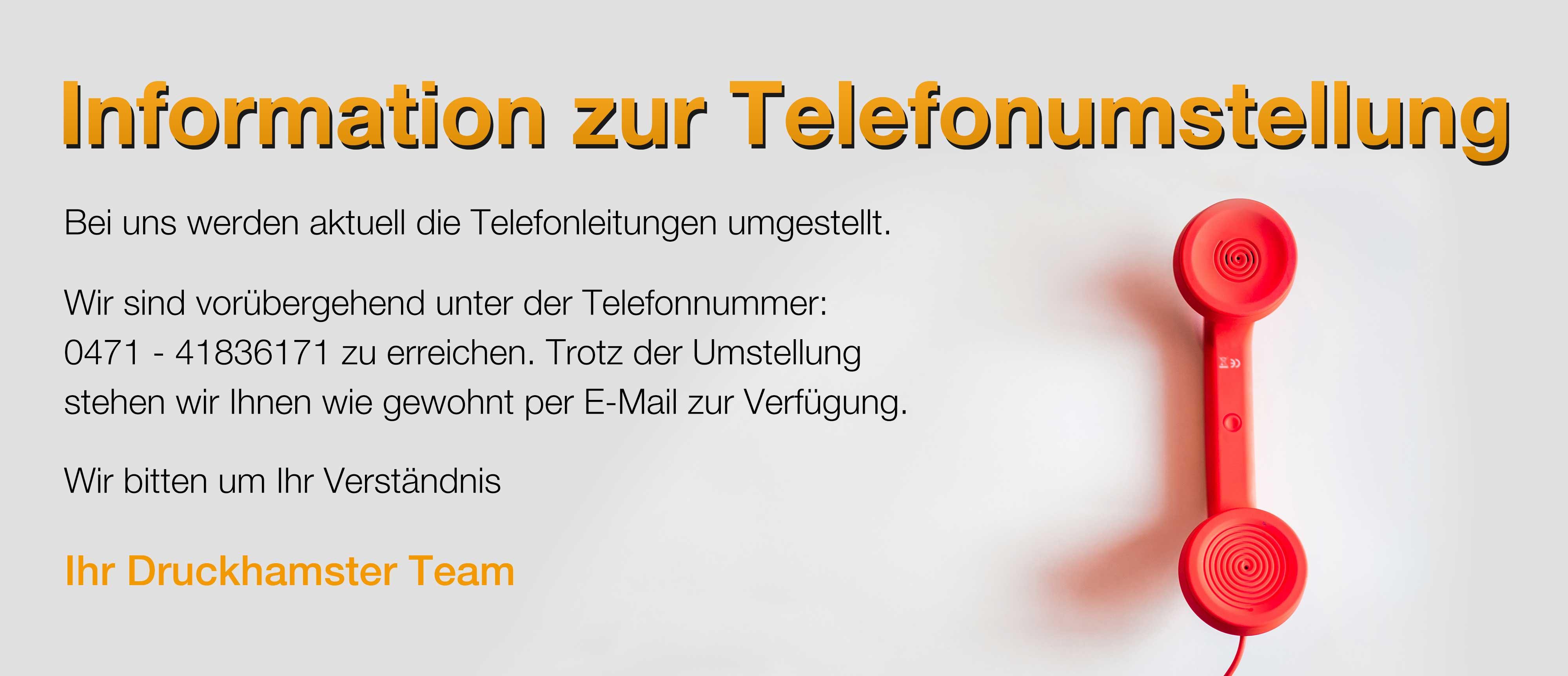 Telefonumstellung
